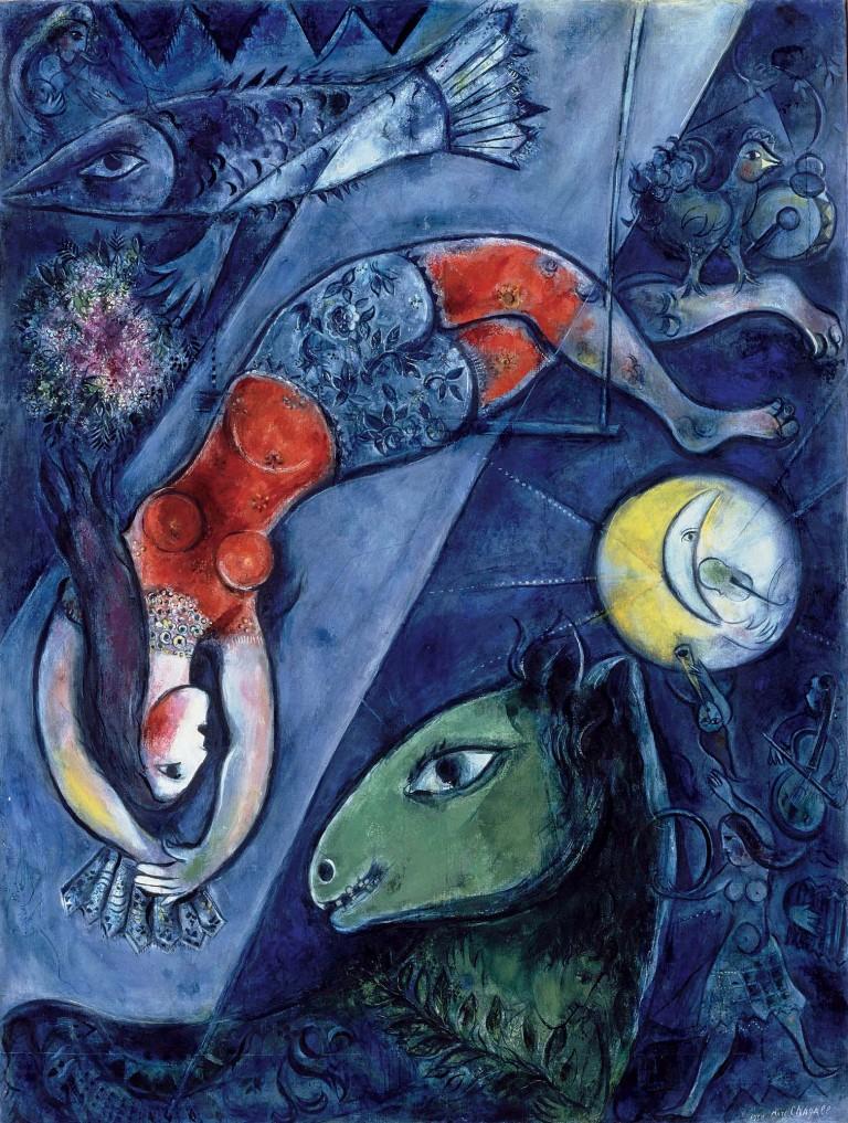 Marc Chagall - Der Blaue Zirkus