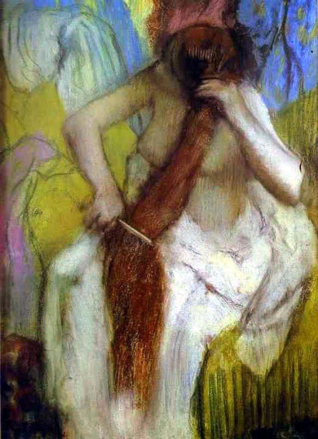 Degas - Femme se coiffant