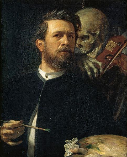 Arnold Böcklin - fiedelnder Tod 1872