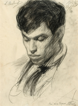 Boris-Pasternak.charcoal.drawing