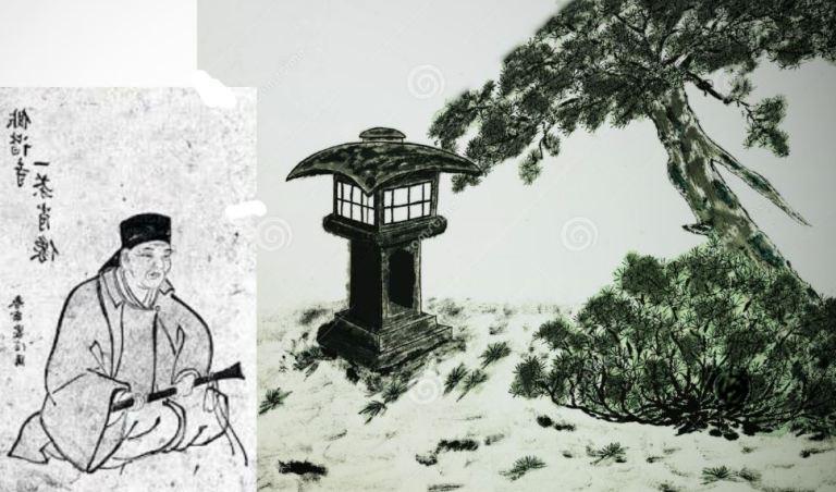 Isssa stone-lantern-sumie