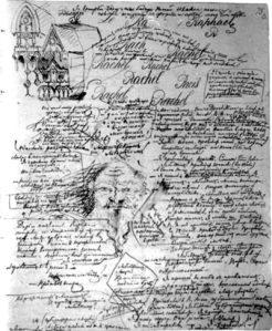I Demoni - pagina dal manoscritto originale di Dostoevskij (1870/71)