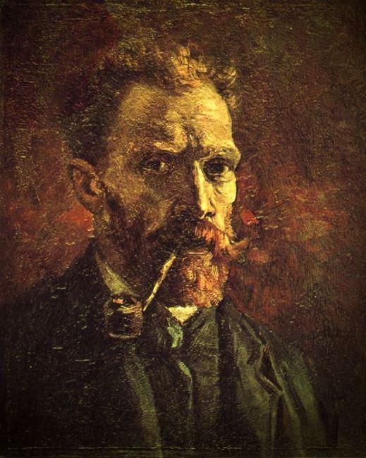 Vincent Van Gogh - Autoritratto con pipa (1886)