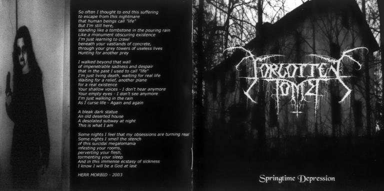 Forgotten Tomb springtime depression
