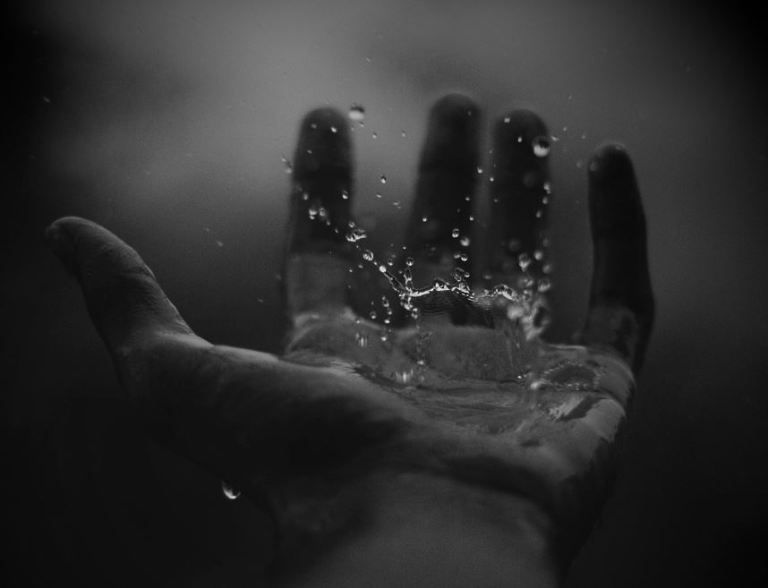 water-drops-on-hand